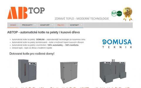 ABTOP - automatické kotle na pelety i kusové dřevo